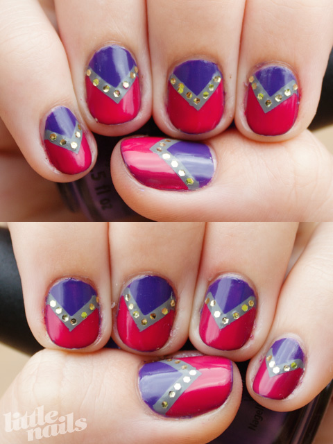 Pointy Glitter Tape Manicure