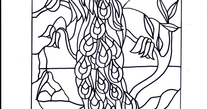 ImaginArte: Vitrales: diseño pavo real