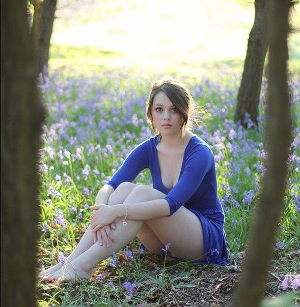 фото девушки частное на природе