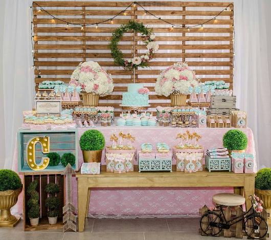 101 fiestas 10 ideas para decorar tu baby shower vintage - Decoracion rustico vintage ...