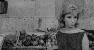 The actress Monica Vitti in a scene from L'eclisse (1962)