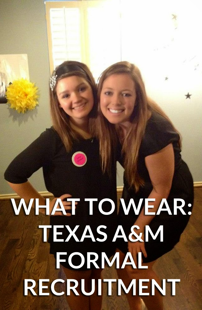 texas a&m sorority recruitment