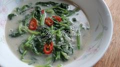 Masak Lemak Putih Sayur Bayam