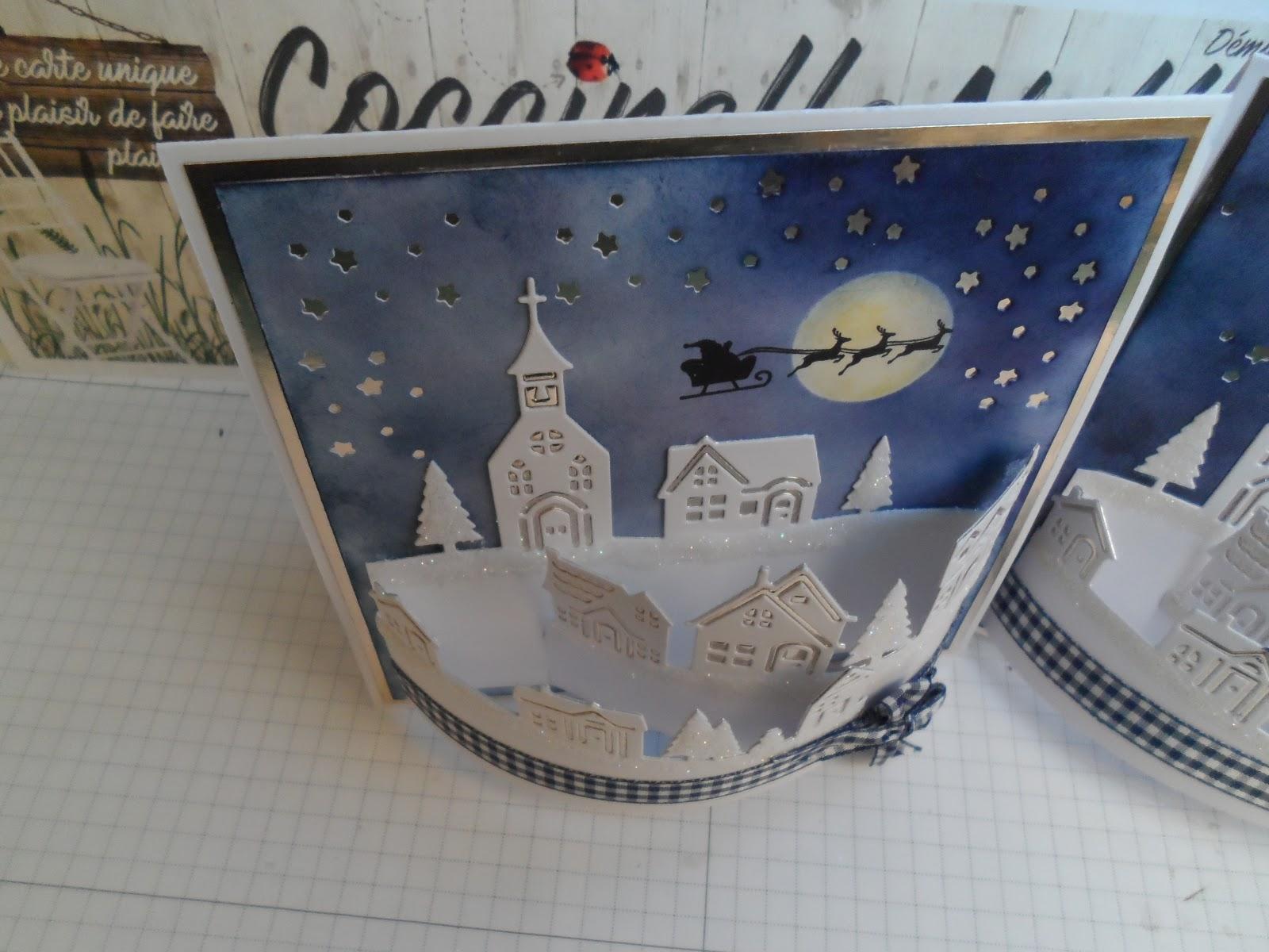Ma Carte De Noel.Coccinellenellescrap Blogspot Fr Carte Village De Noël