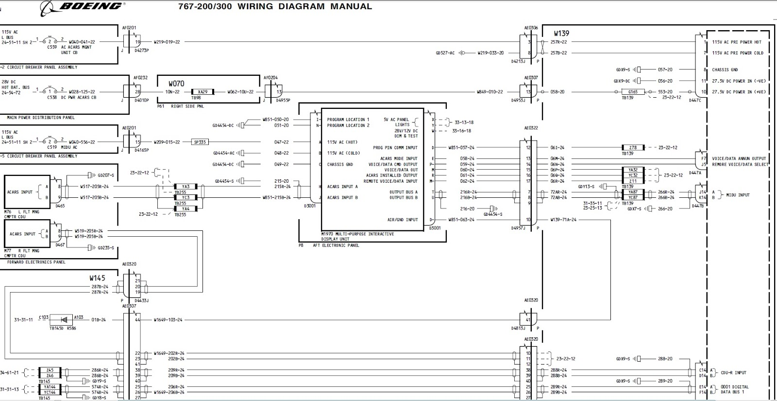 boeing wiring diagrams reading boeing wiring diagrams boeing 767 simulator project: avionics bending: acars ... #1