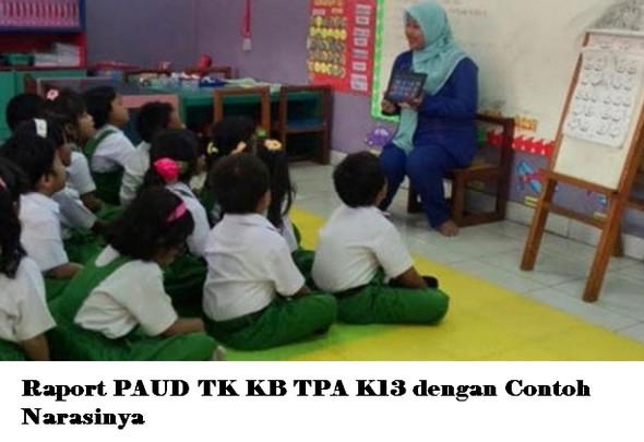 Raport PAUD TK KB TPA K13 dengan Contoh Narasinya