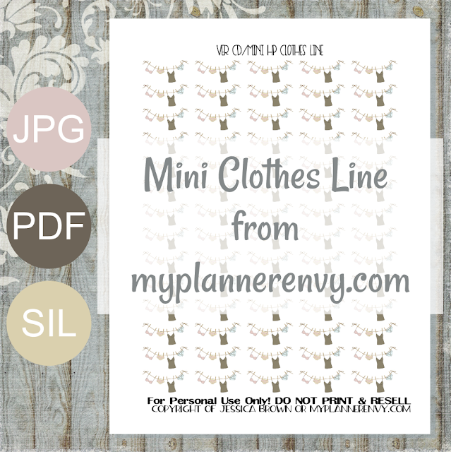 "Free Printable 1.250"" Wide Clothes Line for the Vertical Carpe Diem Inserts and the Mini Happy Planner from myplannerenvy.com"