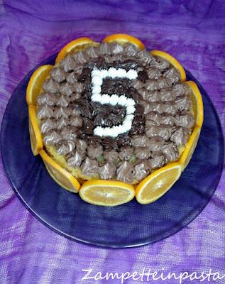 Torta con cioccolato e arance - Dolce con le arance