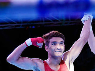 Gold in Olympic Test Event for Boxing