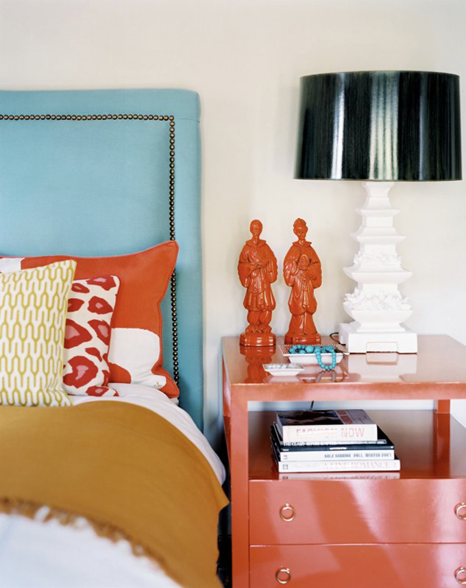 orange interior decorating accents