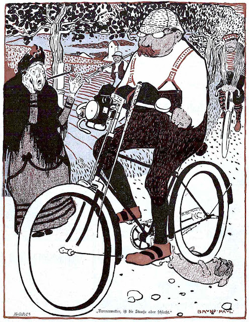 a Bruno Paul cartoon about bicycling