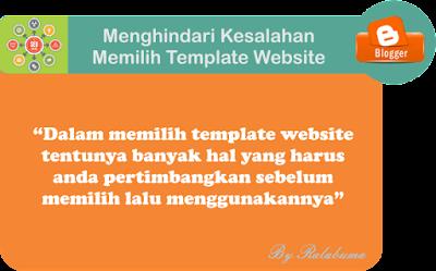 Menghindari Kesalahan Memilih Template Website dan Blog