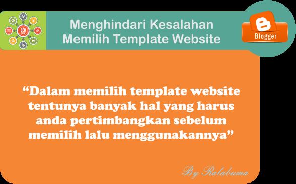 Menghindari Kesalahan Memilih Template Website