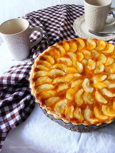 francuska tarta z jabłkami i frangipane