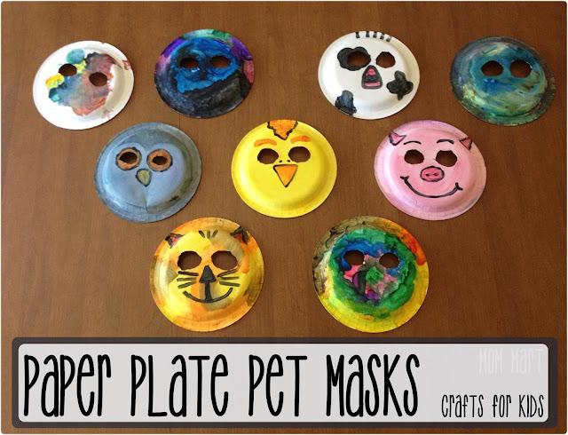Mom Mart: Paper Plate Animal Masks #CraftForKids