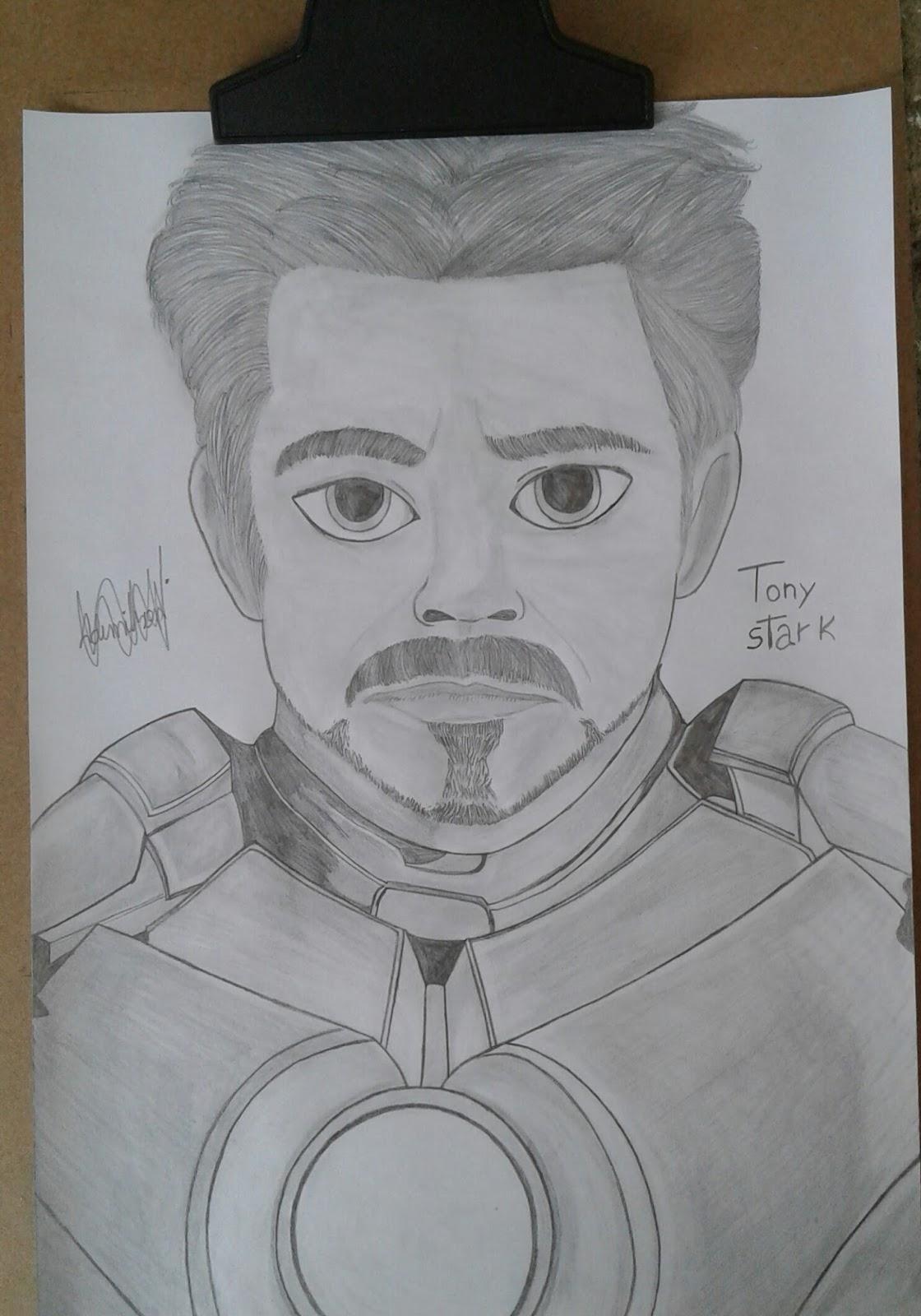 Arte Kawaii Brasil Desenho Do Tony Stark Para Desenhar
