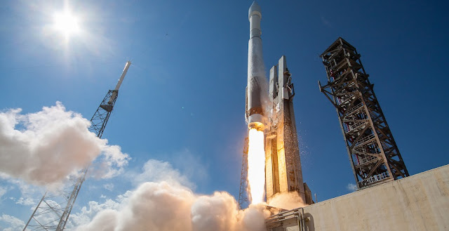 An Atlas V rocket launches GPS IIF-11, the penultimate GPS IIF satellite, for the United States Air Force. Credit: ULA