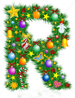 Abecedario de Adornos Navideños. Christmas Ornaments Abc.