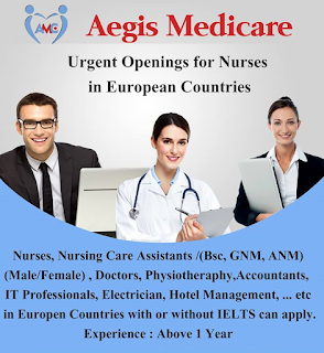 Urgent requirements for Nursing Care Assistants in European Countries  (Bsc,GNM,ANM)