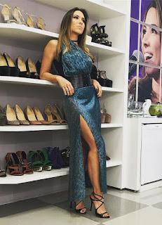 Vestido longo Patricia Abravanel