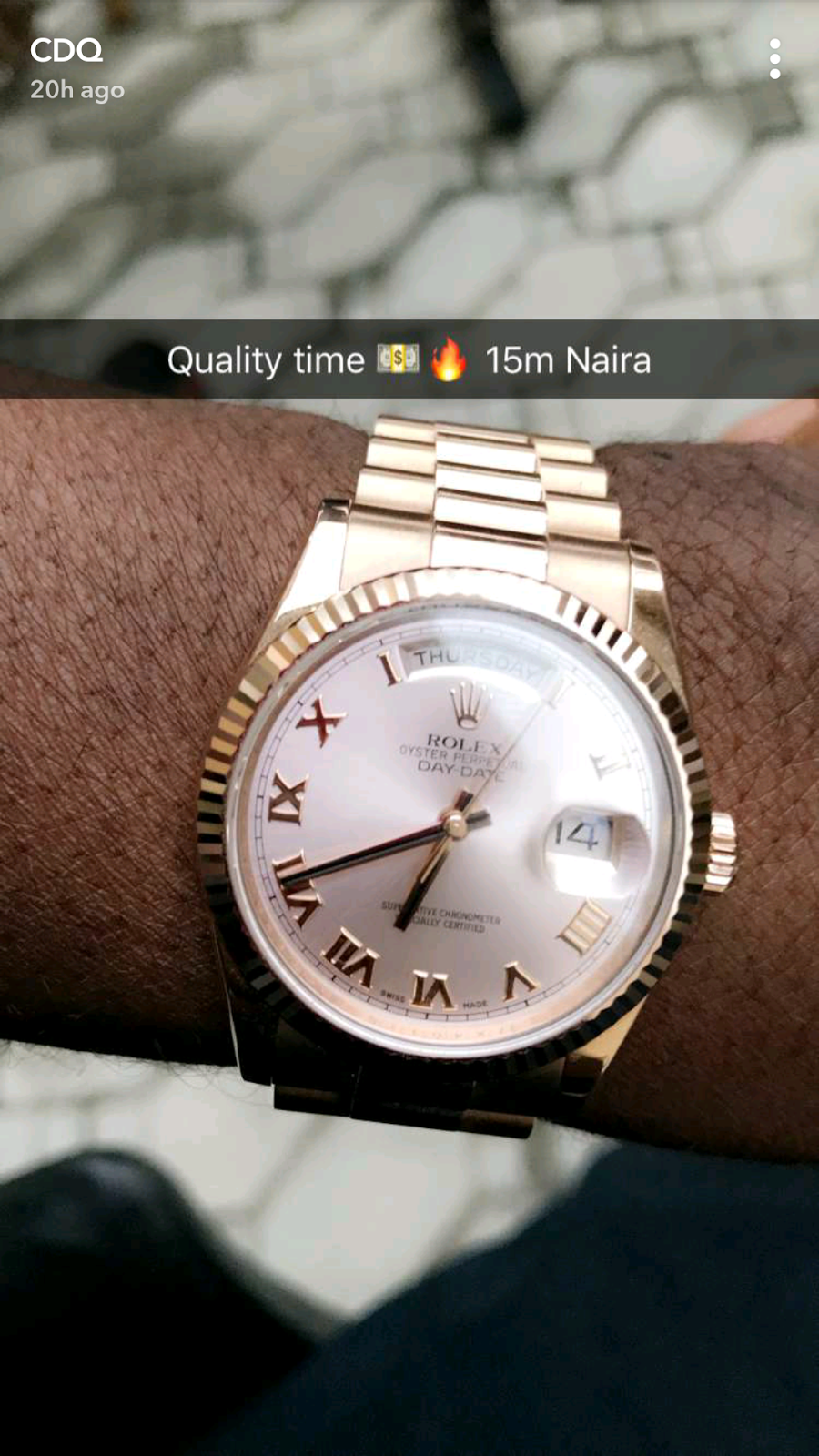 CDQ Claims His New Rolex Watch Costs N15million image