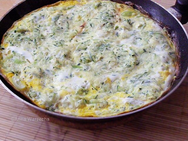 Frittata con zucchine  czyli omlet z cukinią