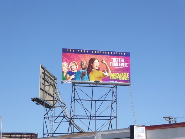 Kimmy Schmidt season 3 billboard
