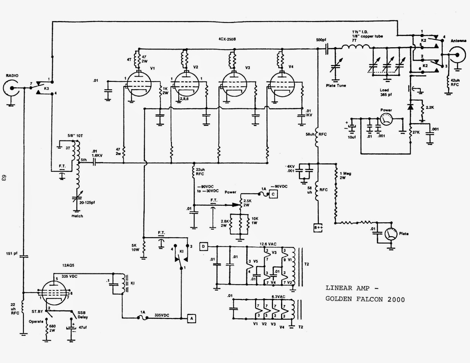 Mrf454 Linear Amplifier Diagram