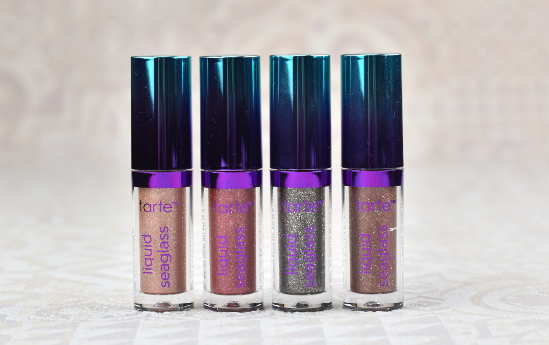 tarte Liquid Seaglass Eyeshadows - Review Swatches - night dive - suite life - una noche - speed boat