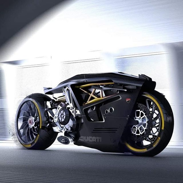 Ducati Valiente Concept Illustration by  doruk.erdem via Instagram