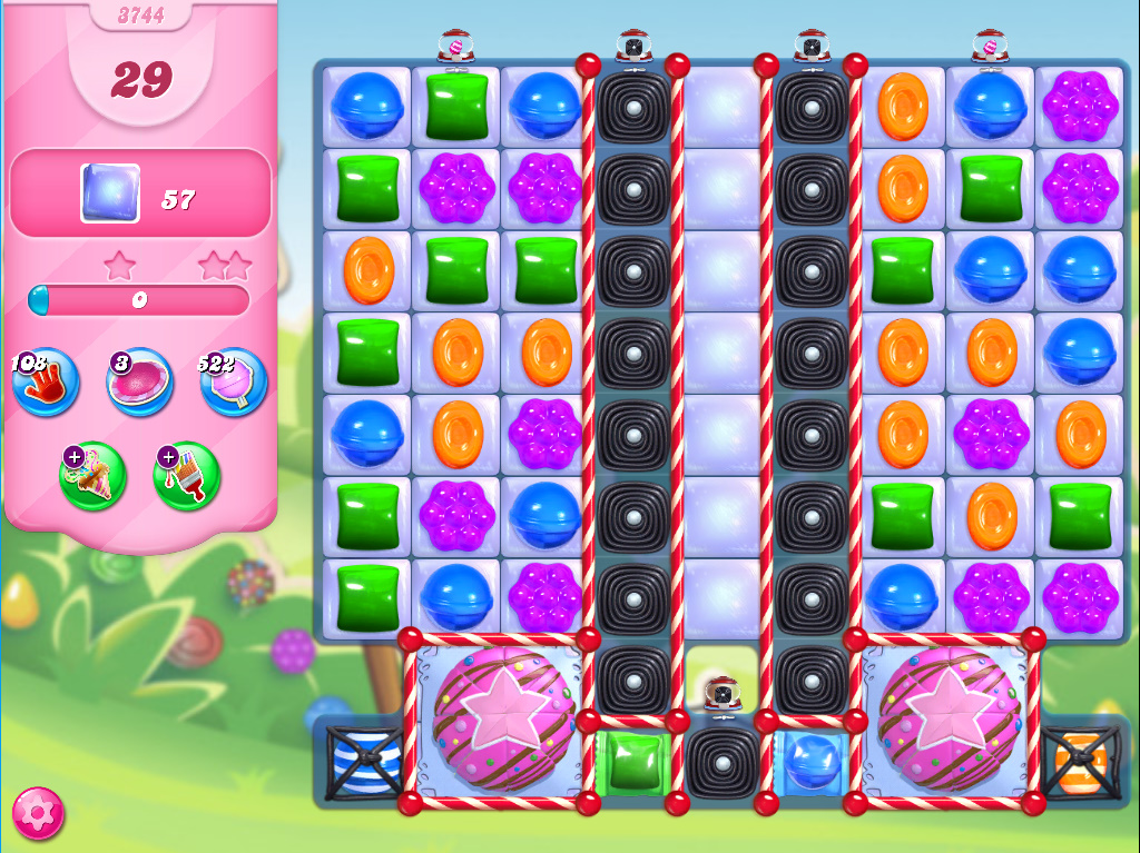 Candy Crush Saga level 3744