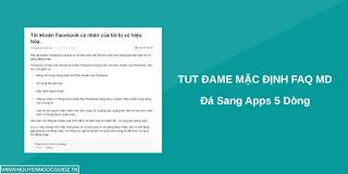 TUT DAME FAQ MẠO DANH 5S BY TRẦN HÀ CỰC CHẤT 2018