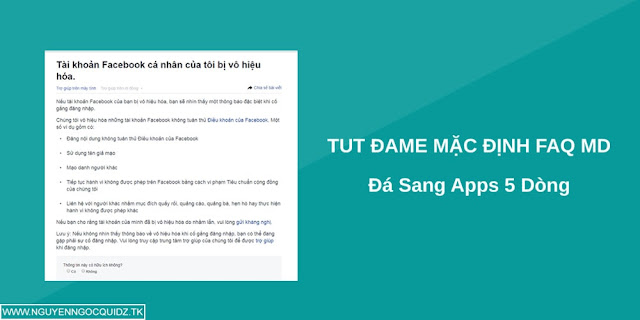 Tut Dame Faq Mạo Danh 5s 2018