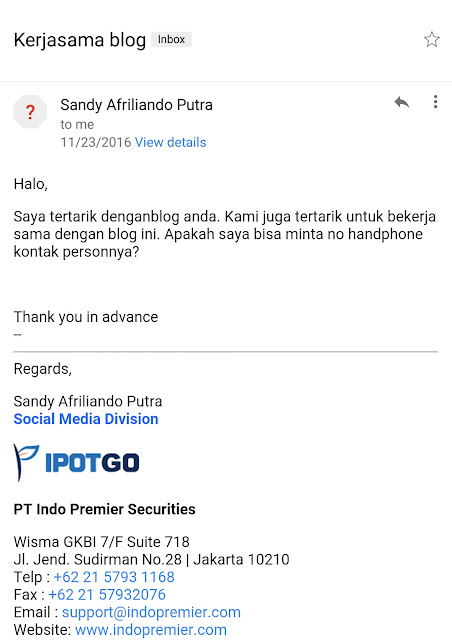 Penawaran Kerjasama Paid Review - Blog Mas Hendra