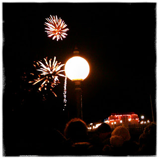 Fireworks on Worthing Pier