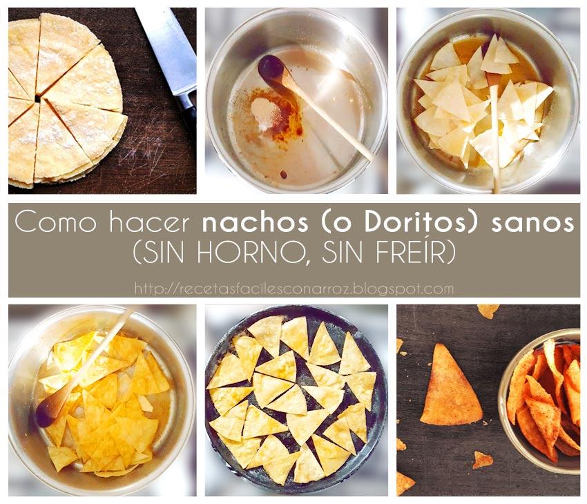 nachos caseros sin gluten fototutorial