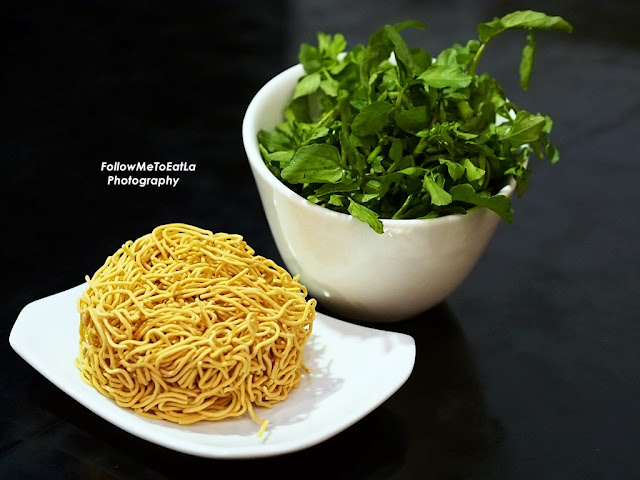 Son's Favourite Noodles - Yee Mee (RM 2.50) & WaterCress (RM 6.90)