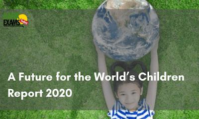 """A Future for the World's Children"" Report 2020"