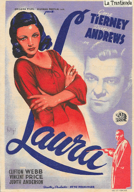 Programa de Cine - Laura - Dana Andrews - Gene Tierney
