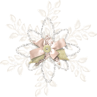 Flowers and Buttons of the Charming Christmas Clip Art.