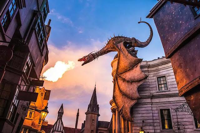 Dragón de Diagon Alley - Harry Potter en Orlando
