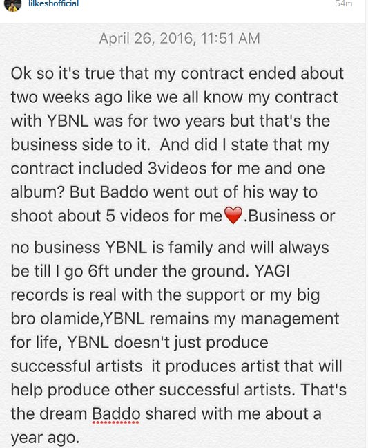 Lil Kesh Confirms Leaving YBNL, Says Olamide Still His Family
