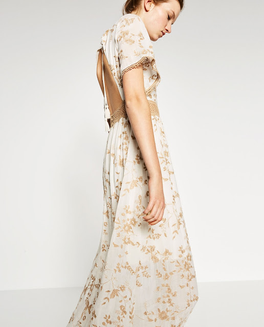 zara gold embroidered dress, gold embroidered maxi dress,