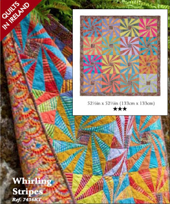 Whirling stripes quilt from Quilts in Ireland