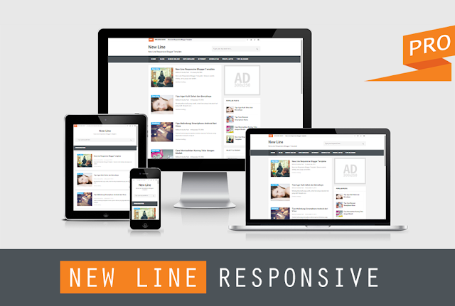New Line Responsive Blogger Template 2016