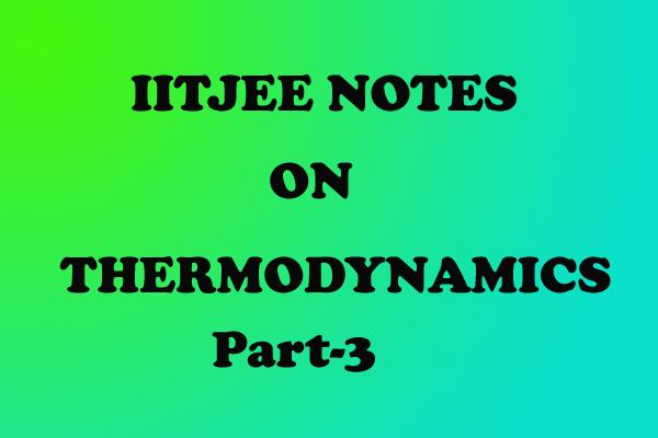 Thermodynamics Notes IITJEE