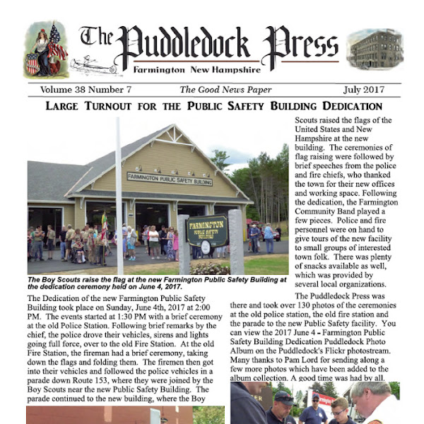 The July Edition of the Puddledock is Available Online an in Town