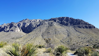 A section of the Guadalupe Mountains.