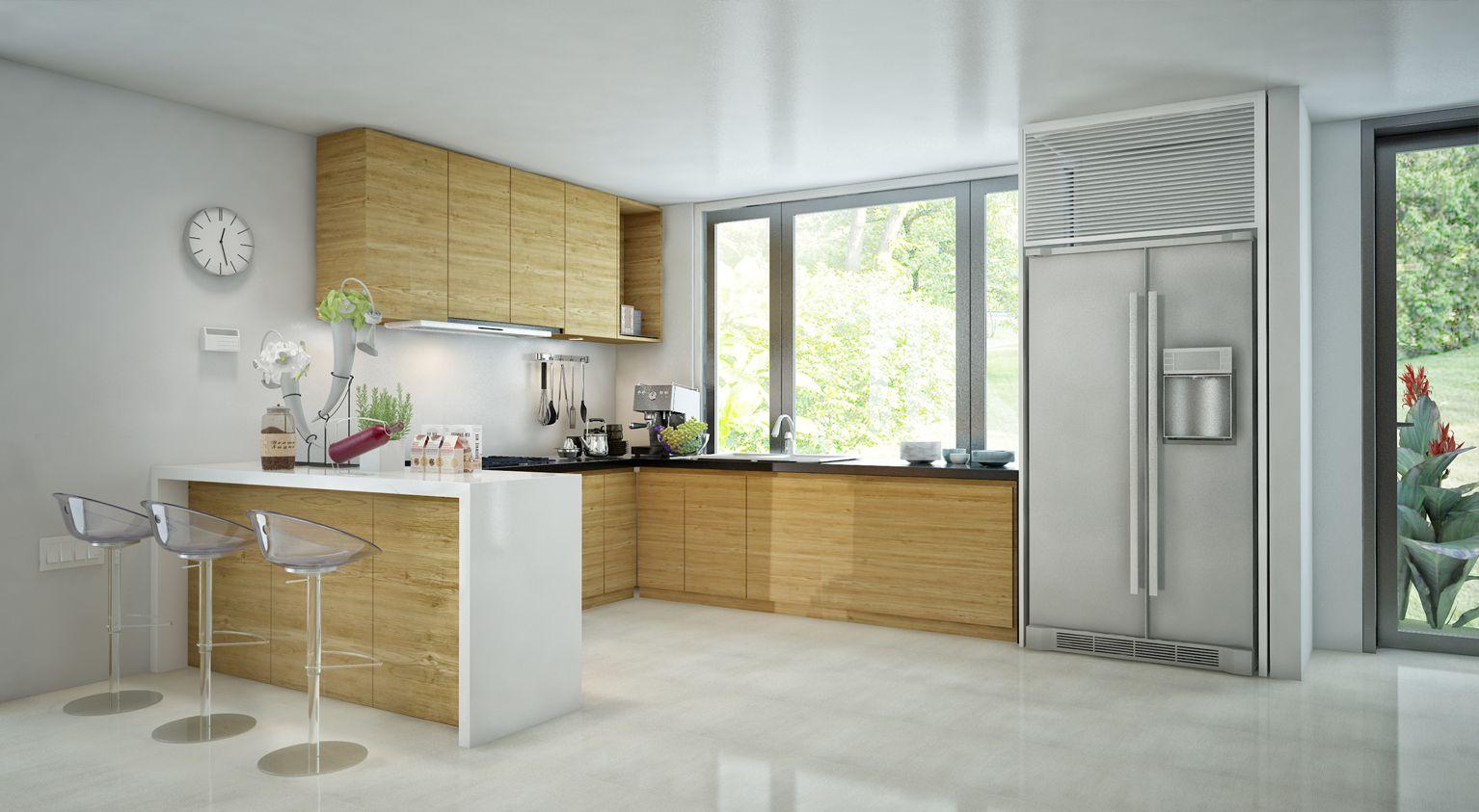 Khu bếp biệt thự San Hô