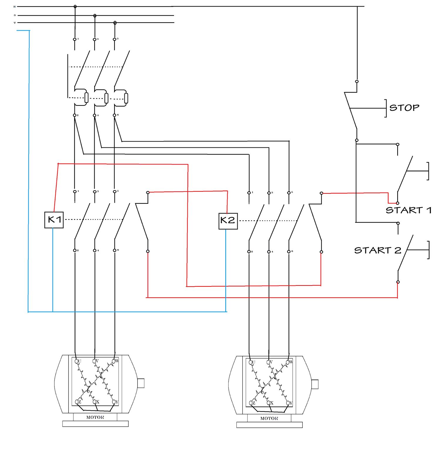 Fungsi Pengunci Dan Pengaman Kontaktor Magnet Pada Sistem Kontrol Wiring Diagram Motor 3 Phasa
